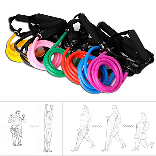 Kocome Fitness Resistance Band Rope Tube Latex Elastic Exercise for Gym Yoga Pilates (Green)