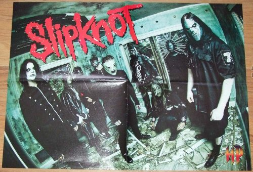 Slipknot in a Deserted Building and Craig 133 Jones - Huge Double Sided, 4 Page Slipknot -