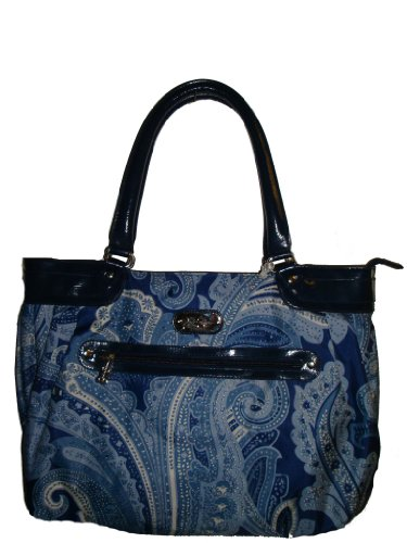 Jessica Simpson Luggage Spoonful of Sugar Laptop Tote, Blue Paisley by Fancy Jessica Simpson