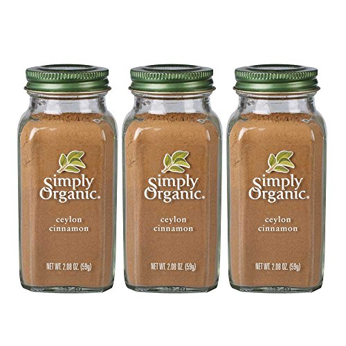 Simply Organic Ground Ceylon Cinnamon | Certified Organic | 2.08 oz. | 3-Pack