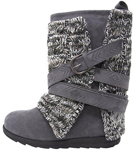 MUK LUKS Women's Nikki Grey Fashion Boot (9 B(M) US, Grey/Grey)