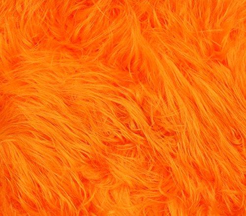Faux Fur Fabric Long Pile Gorilla Orange / 60