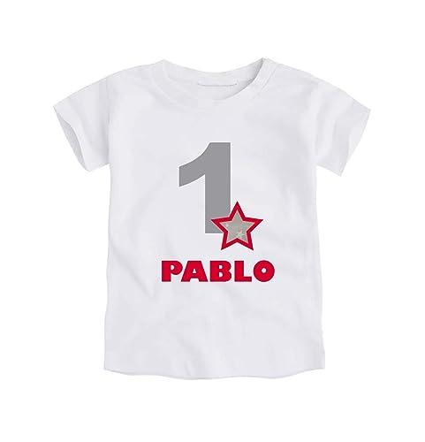 Camiseta o Body Primer Cumpleaños 1 Año/Personalizado con el ...