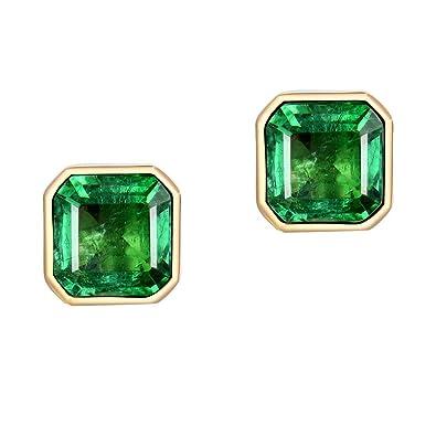 großer Rabatt billigsten Verkauf Freiraum suchen 1 Ct Echt Smaragd Ohrhänger 18 Karat 750 Gelbgold ...