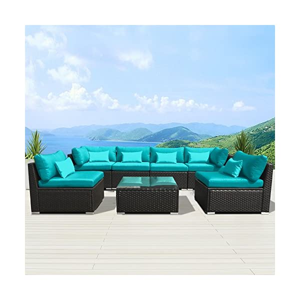 Modenzi-7G-U-Outdoor-Sectional-Patio-Furniture-Espresso-Brown-Wicker-Sofa-Set