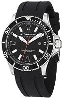 Stuhrling Original Men's 706.01 Aquadiver Regatta Diver Sport II Quartz Date Black Rubber Strap Watch by Stuhrling Original