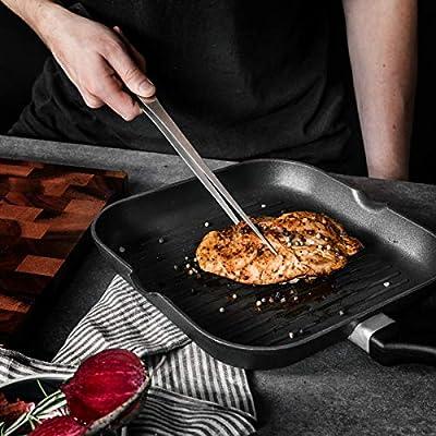 300 mm Japanese Chef Plating TWEEZERS Tongs Stainless Steel Yakiniku BBQ Tongs