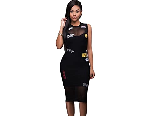 2017 Vestidos Ropa De Moda Para Mujer De Fiesta y Noche Casuales Elegante Negro (M