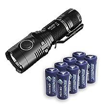 Nitecore MH20 Flashlight XM-L2 -1000Lm w/8x FREE Eco-Sensa CR123A Batteries