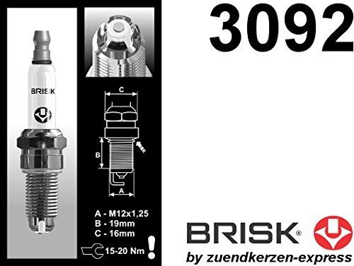 BRISK Premium Racing BOR12LGS 3092 Bujías de Encendido, 4 piezas: Amazon.es: Coche y moto
