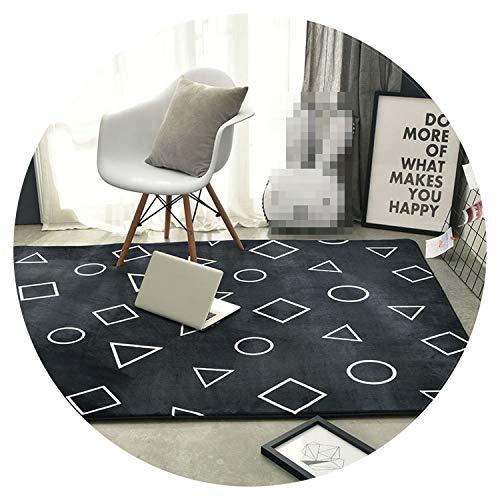 (Collocation-Online Carpet for Bedroom Black Rug for Living Room tappeto alfombra Tapis dywan Tapis Salon tapete para sala Chambre Rectangle Carpets,Color 9,95cm x 95cm)