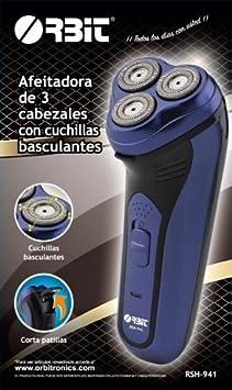 Afeitadora recargable de 3 cabezales con cuchillas basculantes Orbit RSH-941: Amazon.es: Salud y cuidado personal