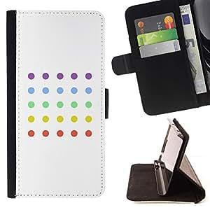 Dot Juego minimalista Colores Blanco- Modelo colorido cuero de la carpeta del tirón del caso cubierta piel Holster Funda protecció Para Apple (5.5 inches!!!) iPhone 6+ Plus / 6S+ Plus