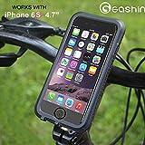 GASHIN Bicycle Bike Phone Mount Holder, Waterproof Bike Mount,Black,Iphone 6/6s Special-purpose,360 Degrees Rotatable,Fingerprint unlock …