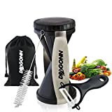 DRAGONN Vegetable Spiralizer - Complete Vegetable Spiral Slicer Bundle - Veggie Cutter - Zucchini Pasta Maker - Spaghetti Maker - Zoodle & Noodle Maker - Cleaning Brush, Storage Bag and Ceramic Peeler