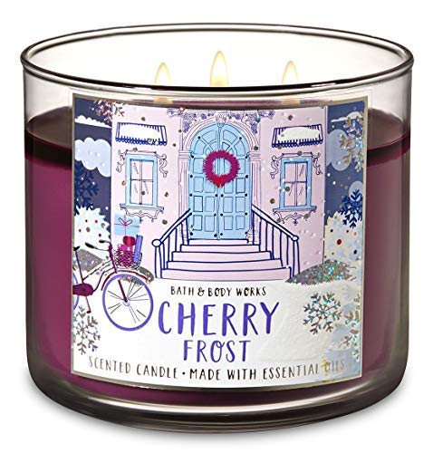 Bath and Body Works White Barn Cherry Frost Scented 3 Wick Candle 14.5 ()