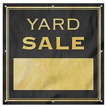 8x8 CGSignLab Classic Gold Heavy-Duty Outdoor Vinyl Banner Yard Sale