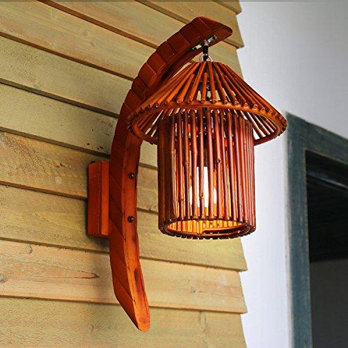 Natural Bamboo Cafe Bar Lamp Southeast Farm Inn Hall Art Wall Light 360500Mm