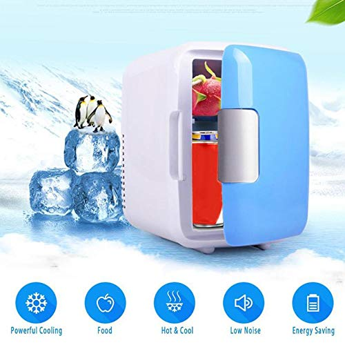 Mini Small Refrigerator,4 Liter Car Fridge Portable Compact Refrigerator Electric Cooler Warmer for Home Office Car