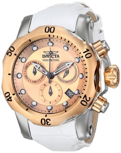 Invicta Women's 16091 Venom Analog Display Swiss Quartz White Watch