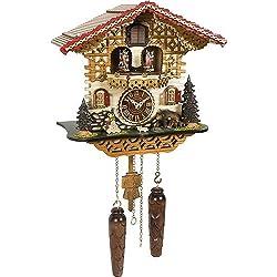 Trenkle Uhren Quartz Cuckoo Clock Swiss house with music, turning dancers TU 4229 QMT HZZG