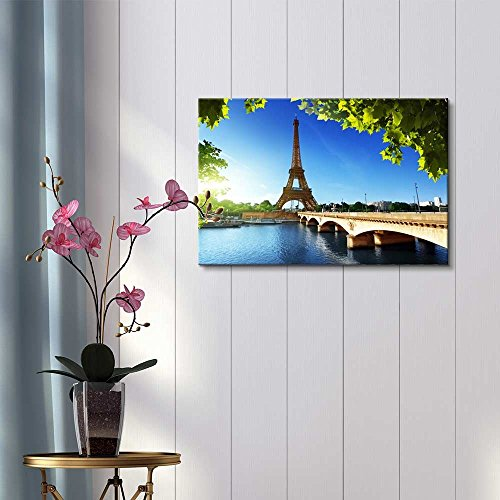 Eiffel Tower Under Blue Sky Paris France Home Deoration Wall Decor