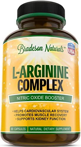 L-Arginine L-Citrulline Supplement. Nitric Oxide Booster. Speeds up Workout Recovery. Vital Natural Amino Acid. Supports Cardiovascular Health Regulates Blood Pressure. Made in USA.