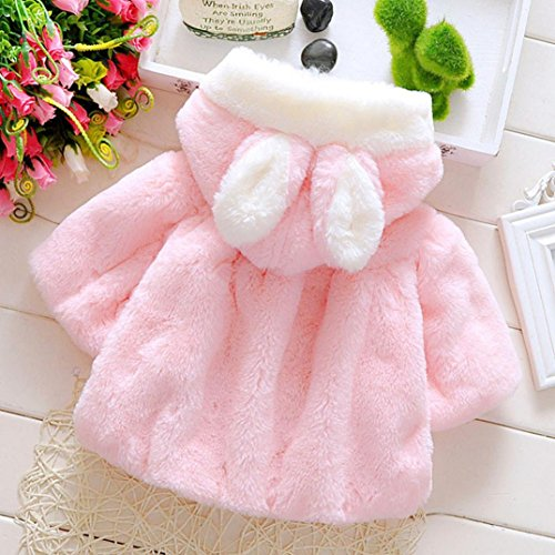 ad02b1b69 Muxika Dinlong Fashion Baby Girl Fur Winter Warm Coat Cloak Jacket ...