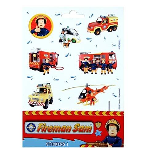 Foglio Sticker con 12 AdesiviSam il PompiereDecorazione
