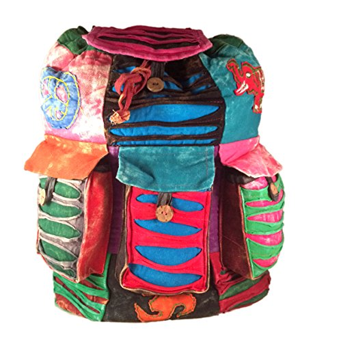 Bag Rucksack Student Backpack Rucksack Hippie Essential College Travel Hippy Festival amp; Leisure Backpack Hippie Casual FqREw00