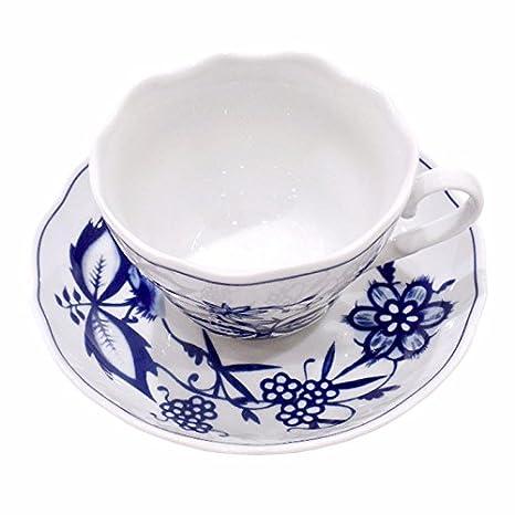 Kaffeetasse festoniert Tasse Triptis Zwiebelmuster Porzellan