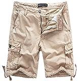 WenVen Men's Cotton Twill Cargo Shorts Outdoor Wear Lightweight