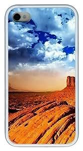 Desert Skies TPU White Case for iphone 4S/4