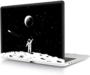 "HRH Space Astronaut Design Laptop Body Shell Protective Hard Case for MacBook New Pro 15"" with Touch Bar A1707 A1990(2018 2017 2016 Release)"