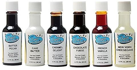 LorAnn Oils Gourmet Flavor Fountain Ice Cream and Yogurt Favorite Flavor Variety Bundle 1.7 Ounce Bottles (Pack of - Coffee Yogurt