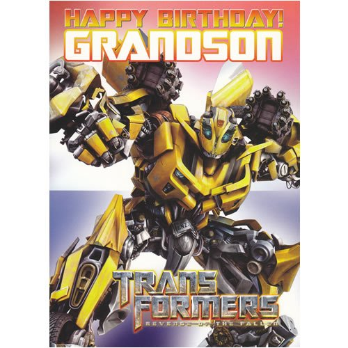 Transformers Grandson Birthday Card 5x7 Amazoncouk Toys Games