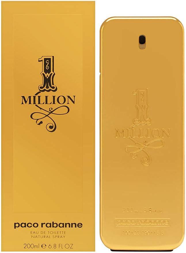 Paco Rabanne 1 Million - Eau de Toilette para Hombre con Vaporizador, 200 ml