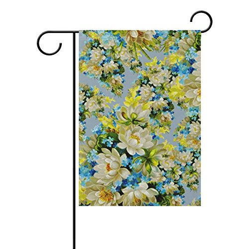 DNOVING Home Decorative Outdoor Double Sided Backdrop Patterns Abstract Flowers Garden Flag,house Yard Flag,garden Yard Decorations,seasonal Welcome Outdoor Flag 12 X 18 Inch Spring Summer Gift