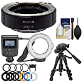 Fujifilm MCEX-16 Macro Extension Tube with Ring Light + Macro Tripod + Kit for X-A2, X-E1, X-E2, X-M1, X-T1, X-T10, X-Pro1 Camera