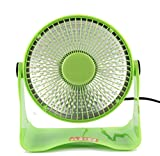 Singleluci,Mini Space Heater Portable Safety Electric Heating Small Sun (Green)