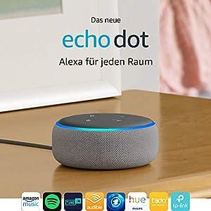 Das neue Echo Dot (3. Gen.) Intelligenter Lautsprecher mit Alexa, Hellgrau Stoff