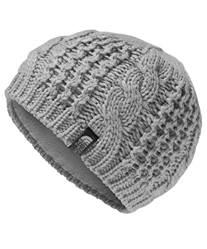 North Face Women Hats (The North Face Girls' Youth Cable Minna Beanie - metallic silver, m)