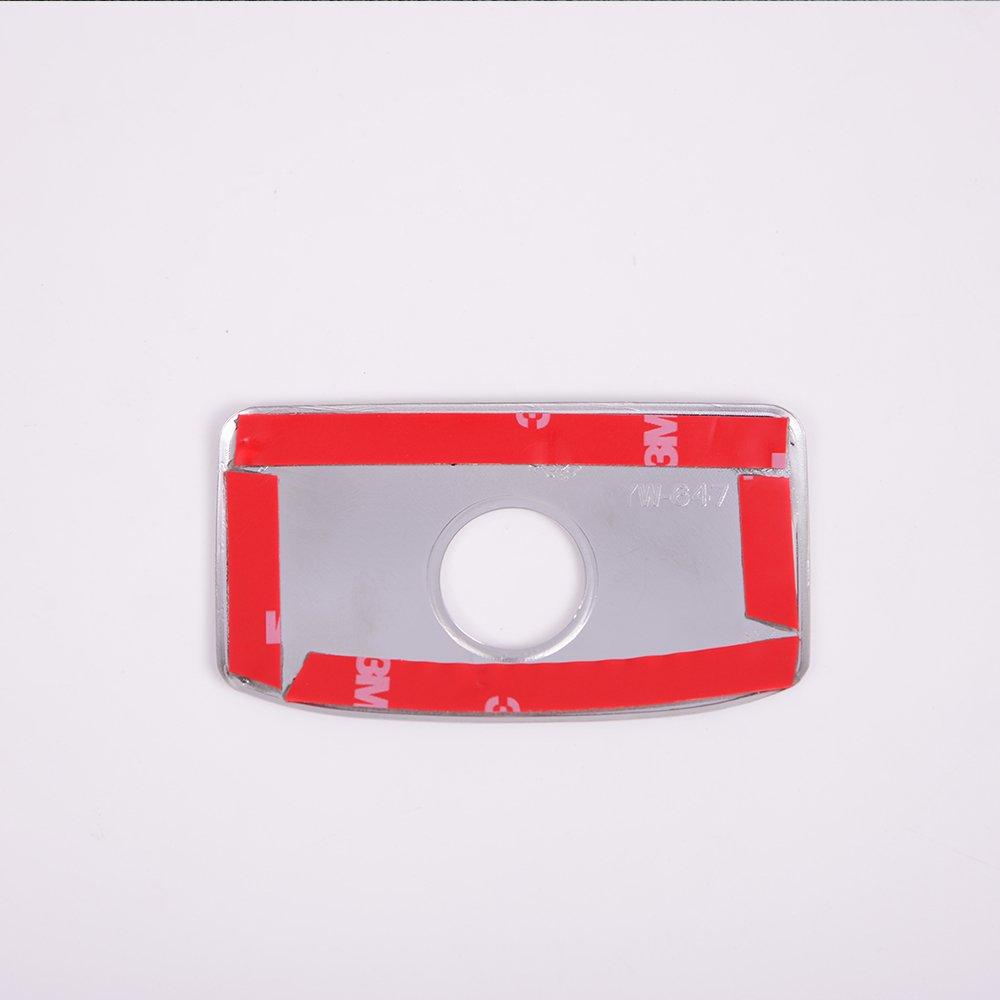 per automobili Rivestimento cromato in ABS per la maniglia del vano portaoggetti
