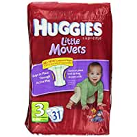HUGGIES Supreme Little Movers Diapers, Jumbo Size 3, 16-28 lb 31-Count