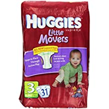Huggies Supreme Little Movers Diapers, Jumbo Size 3, 16-28 lb 31-Count