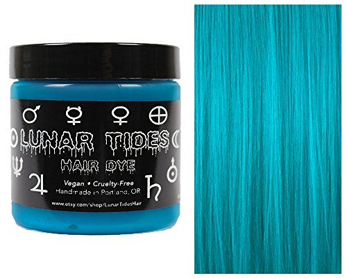 Lunar Tides Hair Dye - Cyan Sky Turquoise Semi-Permanent Vegan Hair Color (4 fl oz / 118 ml)