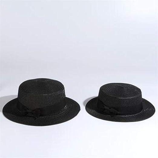 caf/é JXD Chapeau de Soleil Femmes Hommes Chapeaux de Soleil Arc Chapeau de Paille Plage Chapeau /à Bord Plat Chapeau 52-55-58 cm 51-54 cm