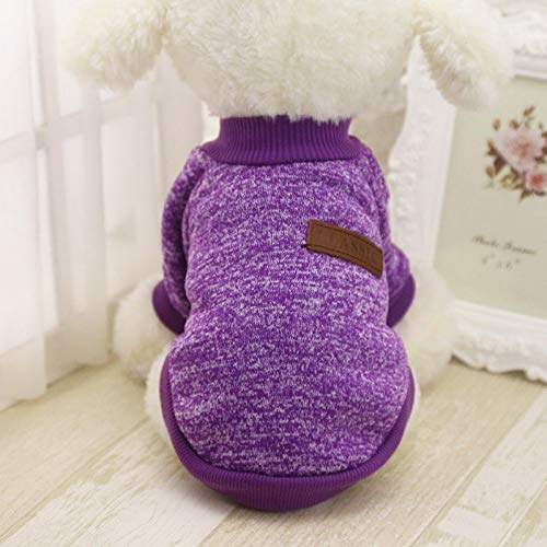Cowmole Co. Dog Coat - Classic Warm Dog Clothes Puppy Pet Cat Jacket Coat Winter Fashion Soft Sweater Clothing for Small Dogs Chihuahua XS-2XL 2018