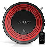 robot hard wood cleaner - PureClean Robot Vacuum Cleaner with Programmable Self Activation and Automatic Charge Dock - Robotic Auto Home Cleaning for Clean Carpet Hardwood Floor - HEPA Pet Hair & Allergies Friendly - PUCRC95
