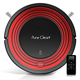Automatic Programmable Robot Vacuum Cleaner – Dust Filter Pet Hair and Allergies Friendly – Auto Home Clean Carpet Hardwood Floor with Self Activation and Charge Dock